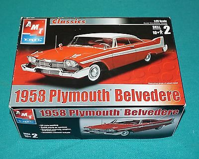 1958 Plymouth Belvedere AMT 1/25 Complete & Unstarted.