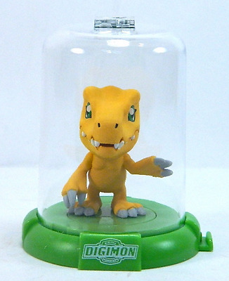 "1x DIGIMON DOMEZ AGUMON 2"" COLLECTIBLE MINI ACTION FIGURE RARE NEW LIMITED"