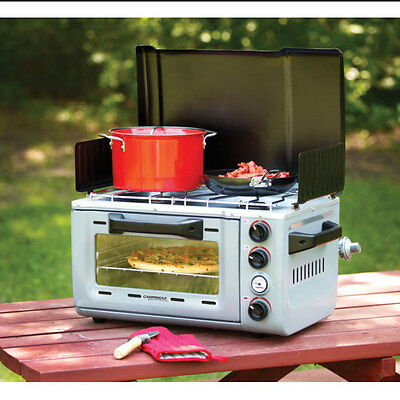 Coleman Camping Stove Oven Pizza BBQ Outdoor Travel Burner Gas Cooker Portable