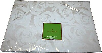 Kate Spade ''Coming Up Roses'' Set of Four Placements, Platinum