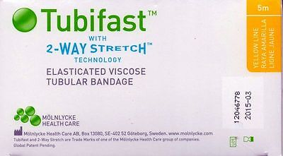 Tubifast Yellow line 10.75cm Tubular Bandage 1m, 3m, 5m lengths available*NEW*