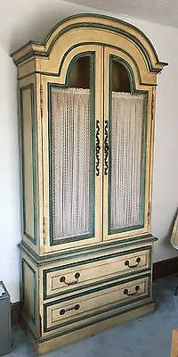"""Antique French Country Armoire-John Widdicombe Or Habersham Style-7'2"""" Tall"""