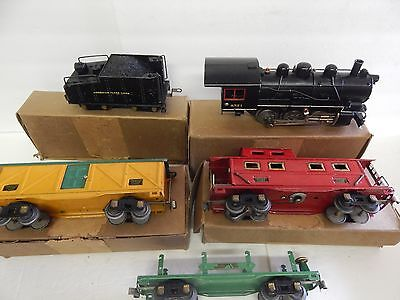 American Flyer  0-Gauge = 0-6-0  Engine Tender And 3 Car Boxed Set