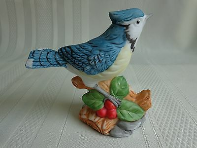 "Porcelain Bird Figurine ""The American Blue Jay"" The Whitehall Society"