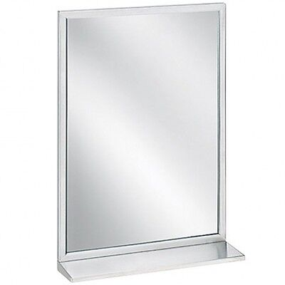 Bradley - Framed Mirror with Shelf - Wielded Satin Finish - 450mm W x 1000mm H