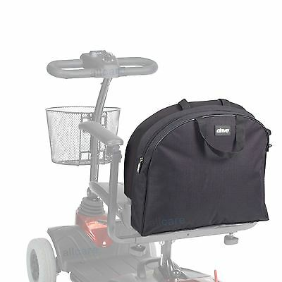 Mobility Scooter Saddle Storage Bag for Small to Med Seats without Headrest