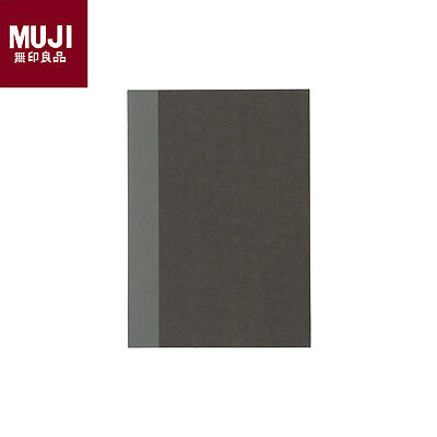 MUJI Recycled Paper Grid Notebook Size A6 5mm Grid 30 Sheets Dark Gray Japan New