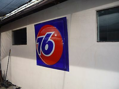 Union 76 Gas Station Oil Sign Large Petroliana Gulf Can Pump Mobil Shell 66