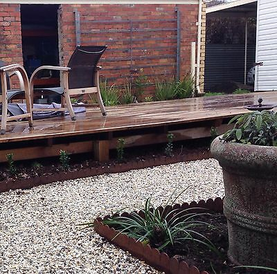 Cottage Style Metal Garden Edging - Corten Steel - Pre-rusted. Price per metre