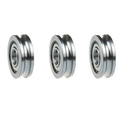 5pCS Guide U Groove Pulley Ball Bearing Wheels Roller Sealed Guide Wire Track
