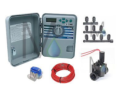 Hunter X-CORE 4 Station Outdoor Automatic Irrigation Package