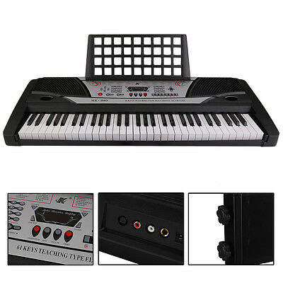 61 Key Electric Piano Organ Digital Personal Electronic Music Keyboard Beginner