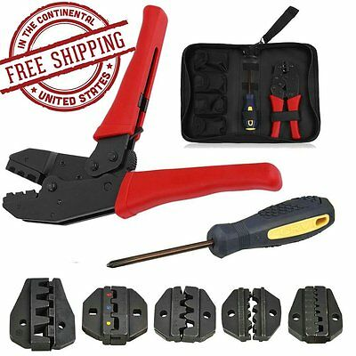 Insulated Cable Connectors Terminal Ratchet Crimping Wire Crimper Plier Tool BP