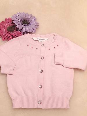 Embroidered Rose Buds Pink Cardigan / Baby Cardigan / Jacket