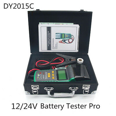 12/24V Car Battery System Tester Capacity Electric Load Charge Test with Printer
