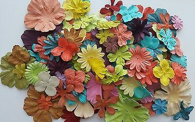 150 x Prima Paper Flowers - Scrapbooking /Cardmaking /Craft / Mixed