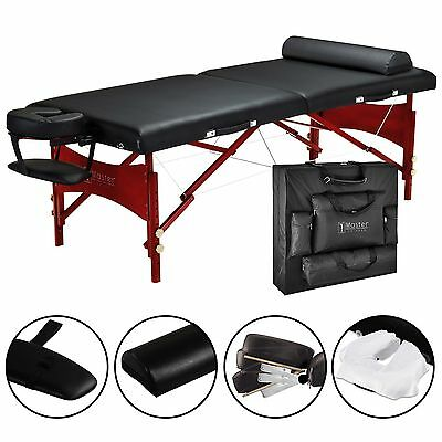 Master Massage 30 inch Roma Portable Table Beauty Bed Couch Package Black