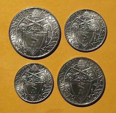 Vatican City1942 Set of 4pcs 20c, 50c,1L, 2L (KM33-36) Original CH BU