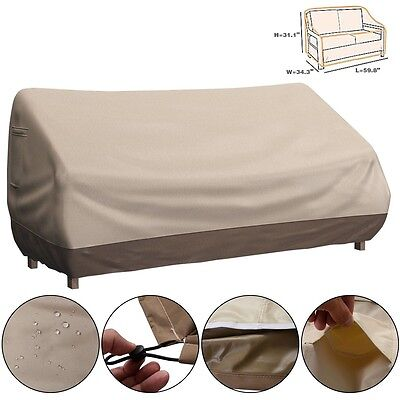 Waterproof Outdoor Patio Loveseat Bench Cover Furniture Weather Protection US