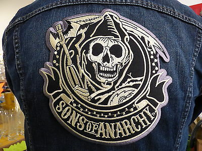 GRAND ECUSSON PATCH THERMOCOLLANT/ SONS OF ANARCHY biker country trike usa elvis