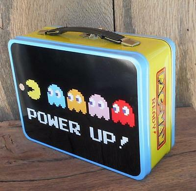 Pac Man Tin Snack Large Tin Box  Lunch Box Vandor Embossed Collectible