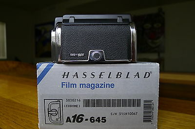HASSELBLAD A16 film back latest black matched insert & mask box manual 503 905