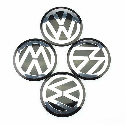 Wheel Center Hub Cap Emblem Decal Cover Logo 4pcs 65mm VW Passat Golf Jetta
