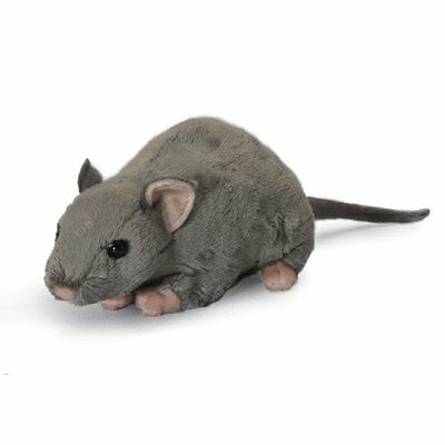Grey Rat which Squeeks, Soft Child's Toy, 33cm, a Living Nature Plush Soft Toy
