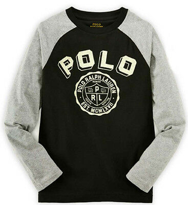 Nwt Ralph Lauren Boys' Youth Long Sleeve Graphic Shirt  100% Cotton