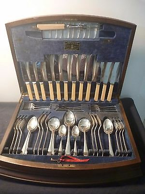 "Viner and Hall 54 piece ""Silver Jubile Cabinet"" cutlery set"