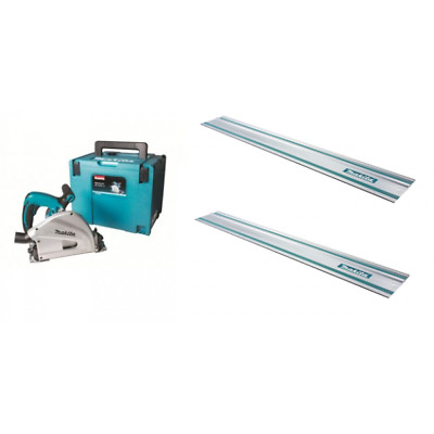 Makita SP6000 plunge saw with 2 1.4Mtr Guide Rails + connectors 110v or 240v