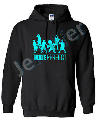 Dude perfect  Hoodie, Hooded Sweatshirt, 80% Cotton 20% Polyester, Adults, Kids