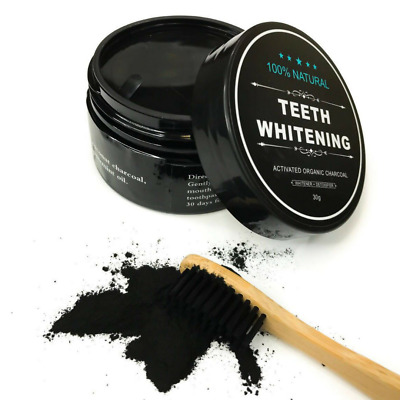 4 PACK Activated Charcoal Teeth Whitening Carbon Coconut Shell Powder Coco Brush