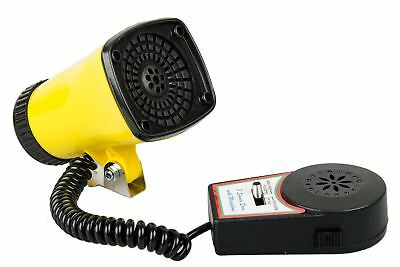 Kids Children 3 Tone Super Bicycle Bike Siren Horn With Microphone Yellow