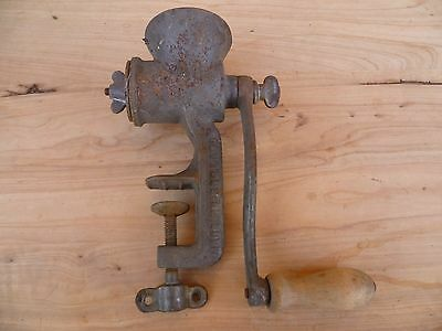 Vintage Old Cast Iron 'no.1' Small Size Kitchen Meat Mincer (A854)