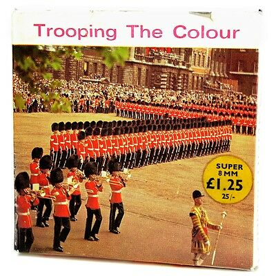 Trooping The Colour Vintage Super 8mm 50ft B&W Cine Film London Home Movies