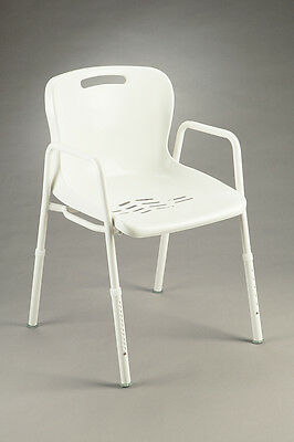 CQ Shower Chair Height Adjustable Rust Resistant Drainage Drain Water