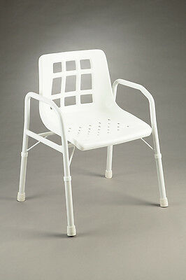 CQ Shower Chair Height Adjustable Wider Angled Arms Non-slip Aluminium Frame Rus