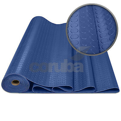 Blue PVC Coin/Penny Rubber Flooring - 2.5mm Thick x 1.2m Wide - Length Options!