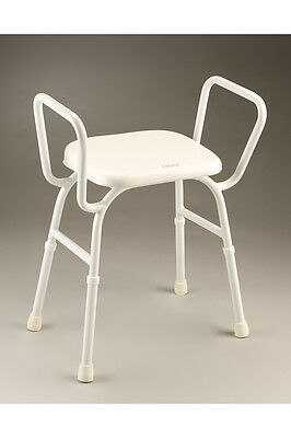 CQ Shower Stool Durable Padded Seat Integrated arms Height Adjustable Non-slip