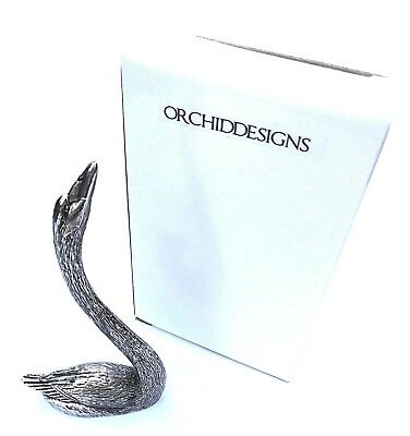 """""""RING HOLDER"""" 12cm Swan- IN SOLID Silver Style Metal in a GIFT BOX-BRAND NEW"""