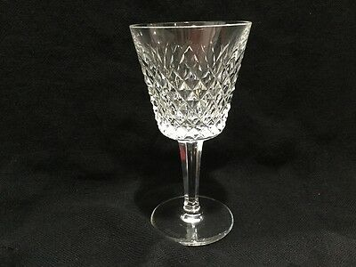 "Vintage 70's Waterford Crystal Alana Large 6"" Wine Water Glass (s) Ireland MINT"