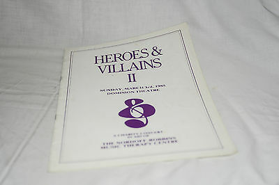 HEROES & VILLAINS II Dominion Theatre Concert programme Tremeloes, Ricky Valance