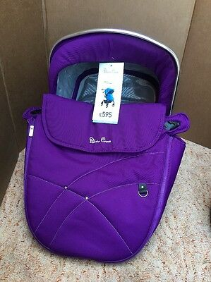 Silver Cross Pioneer/Wayfarer Fabric Hood and Apron Pack Purple/Chrome Baby