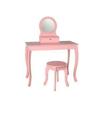 Brand new in box --- Mia Dressing Table and Stool - Pink.