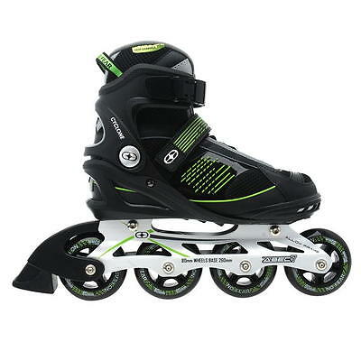 No Fear Alloy Frame Mens Fit Inline Skates UK 7 EU 40.5 Black Green New B311-2