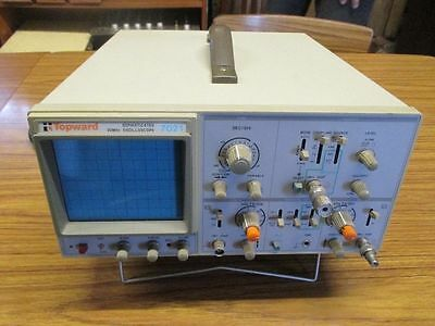 Dual Trace Oscilloscope Made by Top Ward Model 7021