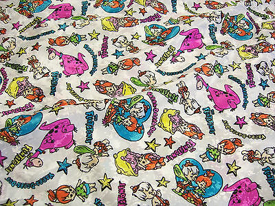 Hanna Barbera Flintstones Pebbles Bamm Bamm Dino Unused Fabric 27 yards