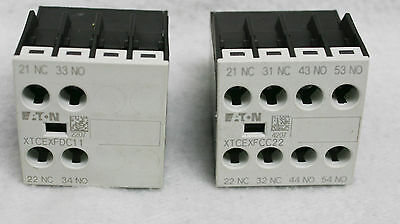 Cutler Hammer Xtcexfcc22 Auxiliary Contact Block 2No/2Nc & Xtcexfdc11 1No/1Nc
