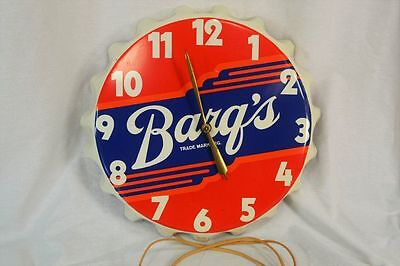 Vintage Original Barqs Bottle Cap Clock